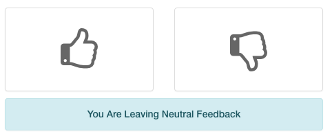 The available rating options.