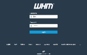 Image of the WHM login interface.